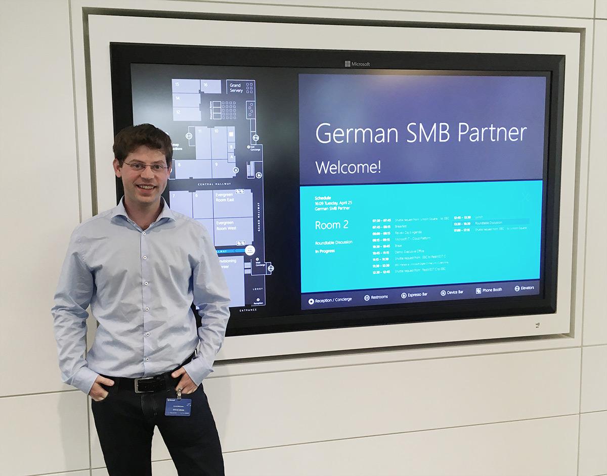 aConTech Geschäftsführer Stefan Zenkel zu Besuch im Microsoft Headquarter Redmond