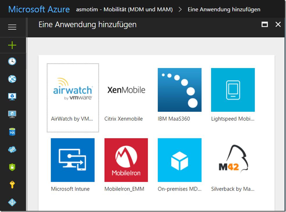 Mircosoft Azure Anwendung hinzufügen