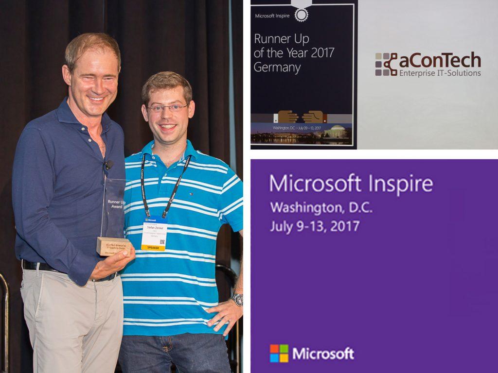 aConTech erhält Microsoft Partner Award auf der Inspire