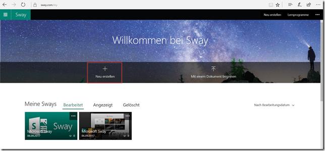Neues Sway im Browser