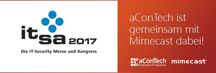 aConTech und Mimecast auf der it-sa 2017