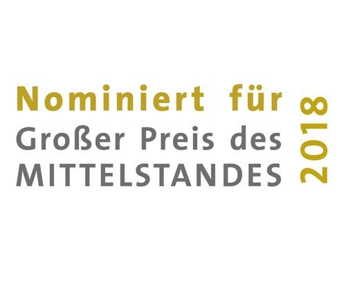 Nominierung für Großer Preis des Mittelstandes 2018 – aConTech