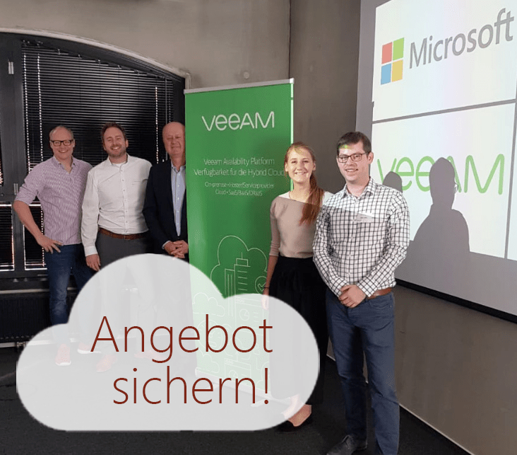 """Backup on Azure und Office 365"" in Hamburg und Angebot Veeam Backup für die Microsoft Cloud"