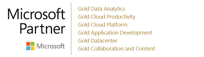 Microsoft Partner Gold DataAnalytics-CloudProductivity-CloudPlatform-ApplicationDevelopment-Datacenter-CollaborationandContent