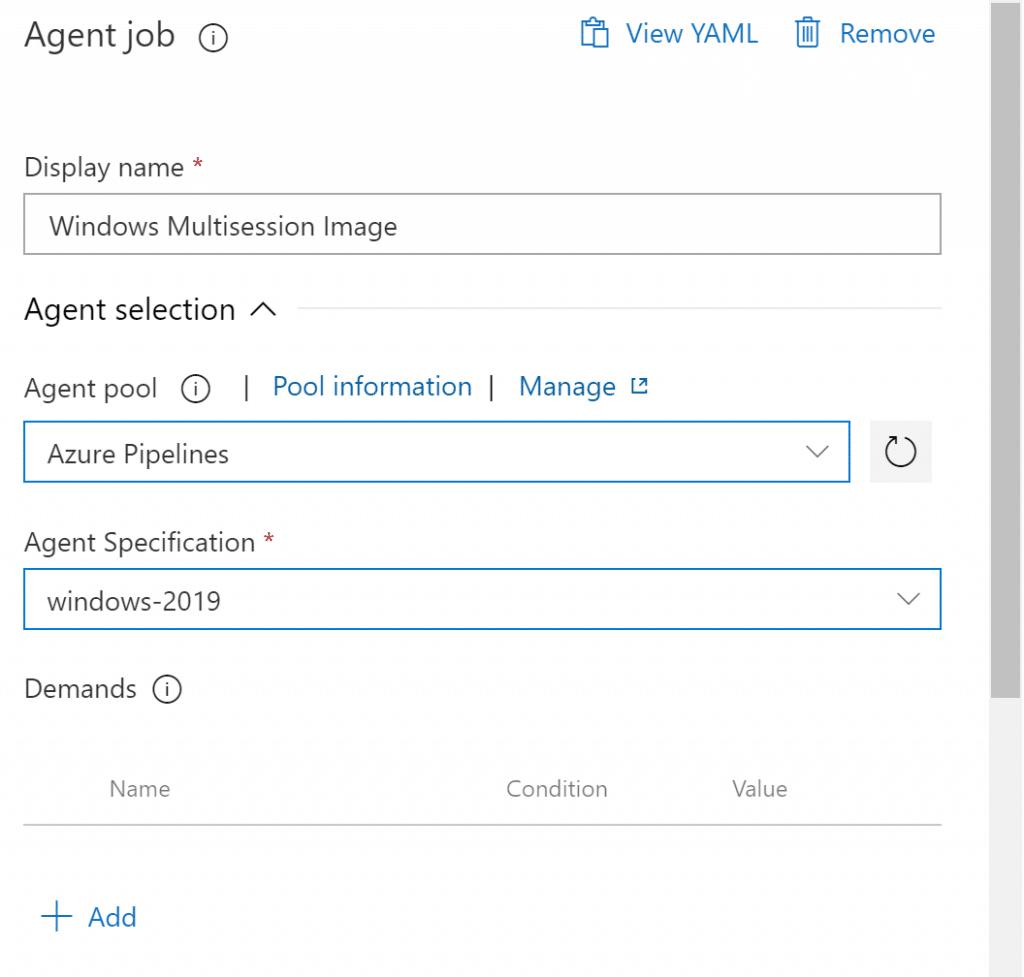 Windows Virtual Desktop - Pipeline Agent
