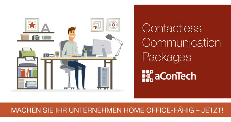 Contactless Communication Pakete von aConTech für mobiles Arbeiten und Home Office