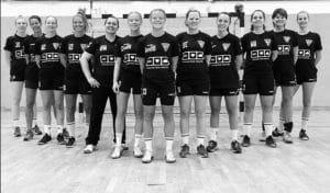 "HSV Bocklemünd Damenmannschaft mit den ""We love cloud"" Trikots"